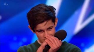 Download lagu Singer Reuben Grey Sings To Girlfriend Gets SHOCKED! | Britain's Got Talent 2017