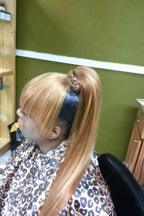 Quick Weave Blonde Ponytail Youtube