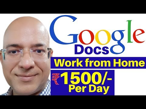 Best Work From Home | Part Time Job | Freelance | Google Docs | Fivver.com | Paypal | Great Income