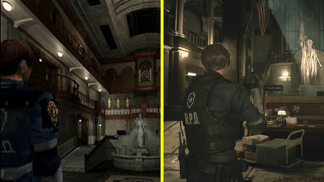 Resident Evil 2 Remake vs Original Side by Side Walkthrough ...
