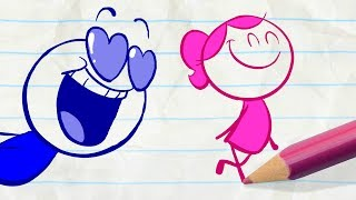 Pencilmate Falls in Love! & More Funny Kids Cartoons