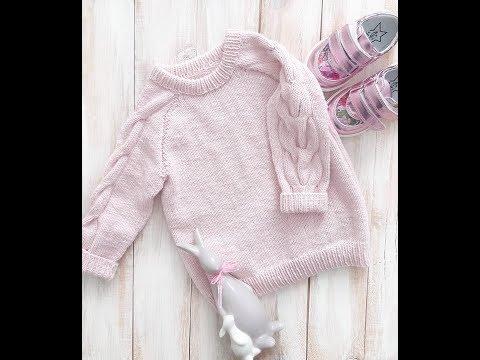 Как связать самый красивый детский джемпер спицами #Вязание