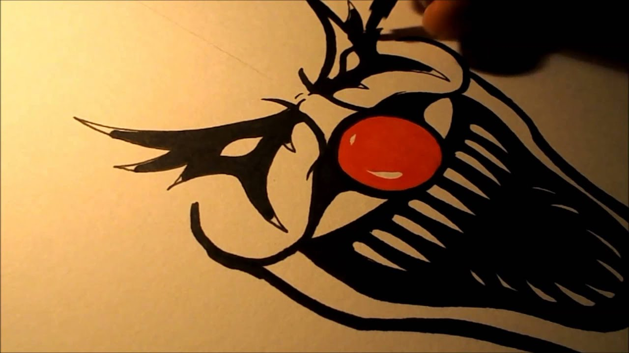 how to draw an evil clown ii youtube
