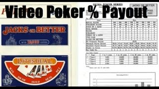 How to know a Video Poker Percentage Payout by looking at the pay table - Documentary