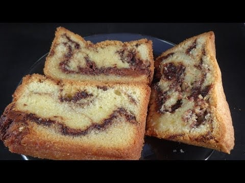 Nutella Marbled Pound Cake - with yoyomax12