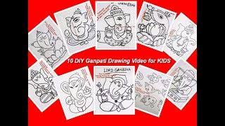 Simple Ganesha Ganpati Drawing Videos for Kids- Ganesh Chaturthi Special
