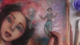 Whimsical Portrait Painting Timelapse