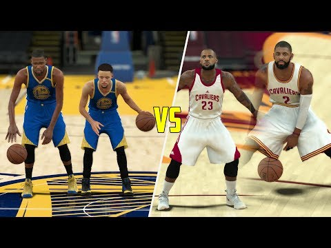 STEPHEN CURRY AND KEVIN DURANT VS LEBRON JAMES AND KYRIE IRVING! 2V2 NBA 2K17 GAMEPLAY!