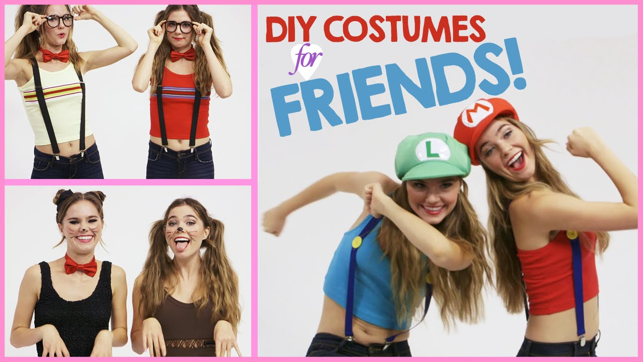 sc 1 st  YouTube & DIY Halloween Costumes to Wear with Friends! w/ Nina and Randa - YouTube
