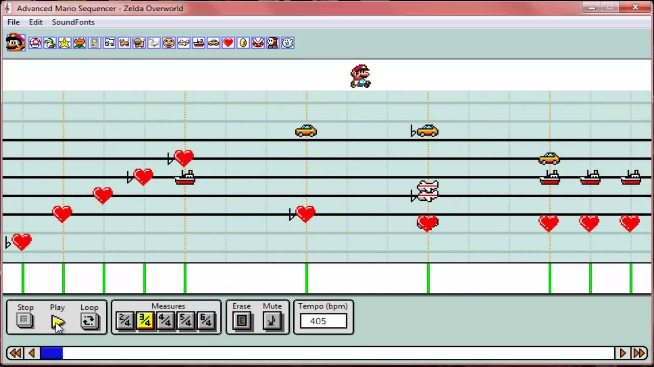 The Legend of Zelda Overworld Theme(Advanced Mario Sequencer)(RE-UPLOAD)