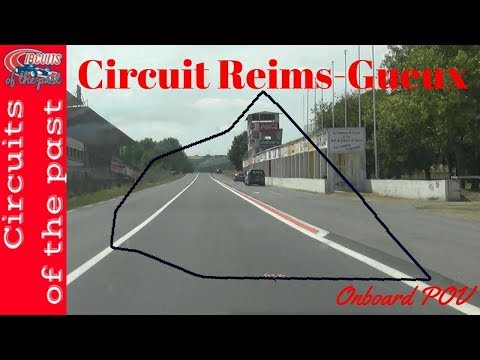 Reims-Gueux Race Circuit Layout 1926 - 1951 With Map