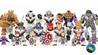 Avengers Endgame Set 15 Quantum Realm Suits Unofficial LEGO Bigfigs & Minifigs