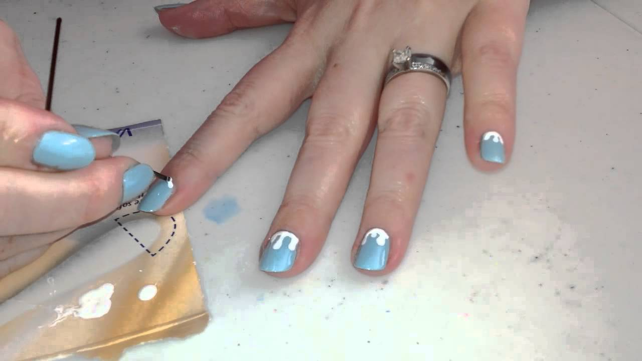 Nail Art For Non Artists Icicles Youtube