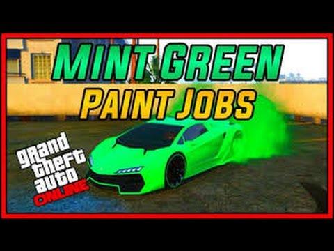 Gta 5 How To Get A Monster Green Paint Job