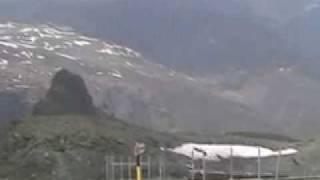 ゴルナーグラート展望台 氷河に眠る山々(1)