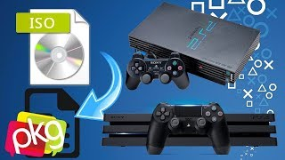 DESBLOQUEIO PS4: TUTORIAL  ISO DE PS2 PARA PKG MIRA 5.05 PLAYSTATION 4