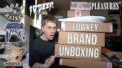 LOWKEY BRAND UNBOXING feat. Revenge, Born X Raised, Pleasures, Bronze 56k, 10 Deep AND MORE!