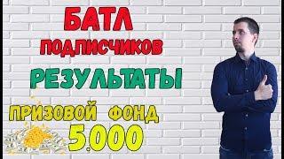 БАТЛ ПОДПИСЧИКОВ / ТУРНИР / РЕЗУЛЬТАТЫ / ПРОГНОЗЫ НА ФУТБОЛ