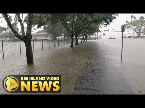 Flooding In Downtown Hilo, Flood Watch In Effect (Mar. 8, 2021)