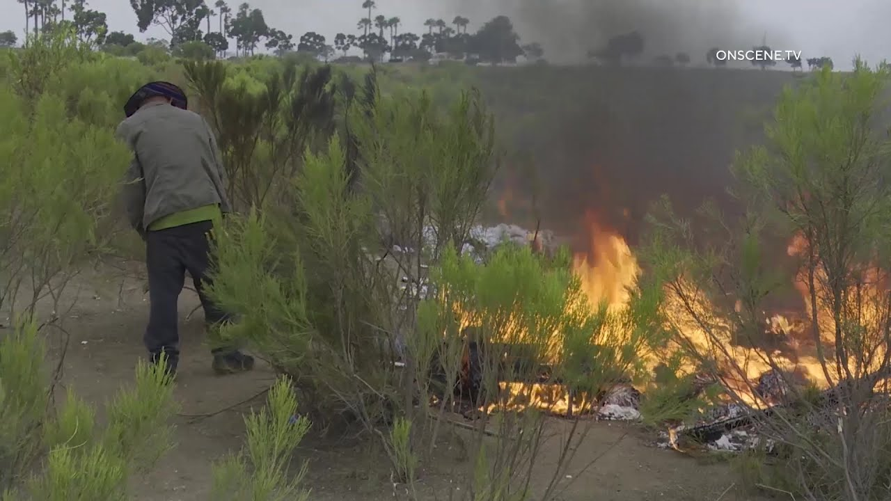 Arsonist Caught Fueling Brush Fire  In Chula Vista (Caught On Camera)
