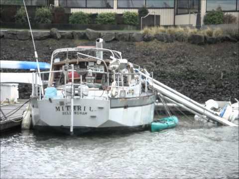 MITHRAL broken mast sailboat bellingham dismasted high wind inside Squalicum Harbor