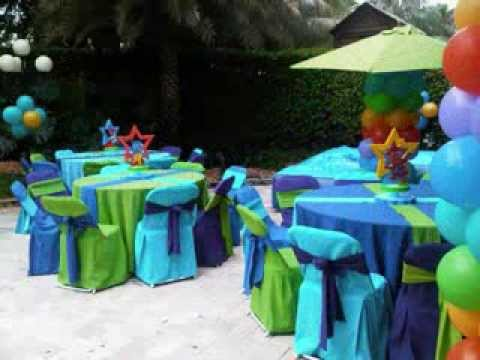 Party rental balloon decorations youtube for Balloon decoration ideas youtube