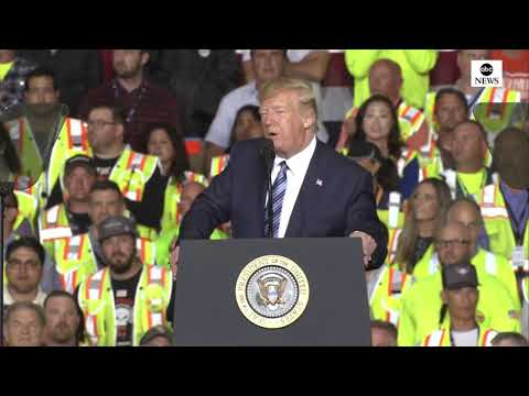 Pres. Trump delivers remarks on energy at Shell Pennsylvania Petrochemicals Complex in Monaca, Penn.