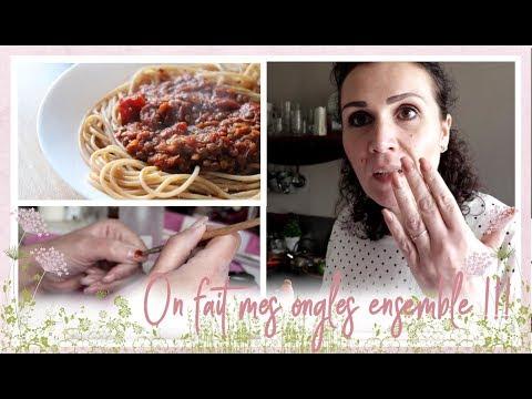 vlog-famille-du-7-mai-:-on-fait-mes-ongles,-bolognaise-de-lentilles,-et-flamby-maison