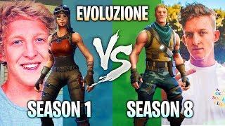 EVOLUZIONE di TFUE SU FORTNITE! PRIME SEASONS vs SEASON 8! Guardate QUA! 😲