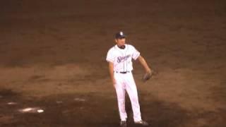 横浜ベイスターズ・加藤武治投手の投球フォームです。2軍の試合なので...