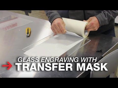 Transfer Mask For Laser Engraving   Laser Engraving Glass   Trotec