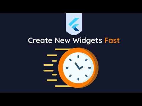 Quickest Way To Create A Stateful Or Stateless Widget In Flutter