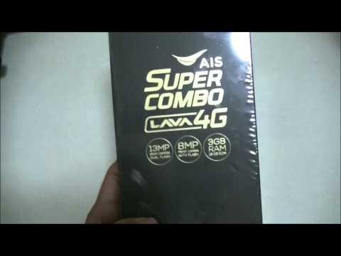Review AIS Super Combo 4G, Lava A2   Unbox   แกะกล่อง รีวิว เอไอเอส ซูเปอคอมโบสี่จี ลาวา เอทู