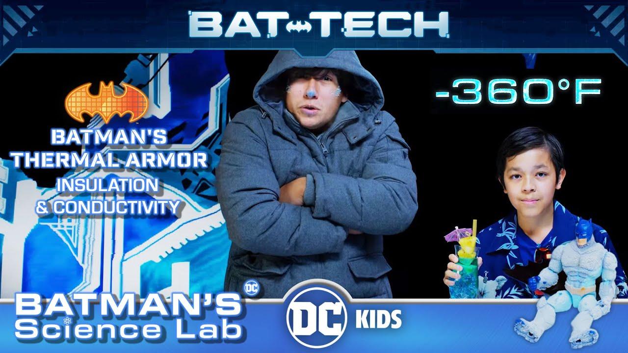 Batman's Science Lab | Batman's Thermal Armor: Insulation & Conductivity | @DC Kids