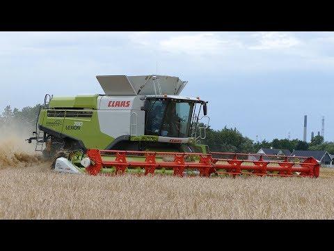 Claas Lexion 780TT Harvesting Barley w/ 41ft. 1230 Vario Header | John Deere 8530 | DK Agriculture