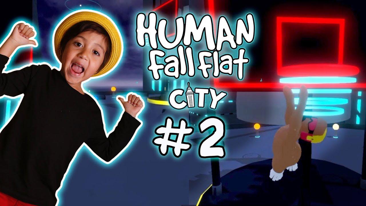 Pollo Jordan mete CANASTA / HUMAN FALL FLAT Ciudad parte 2