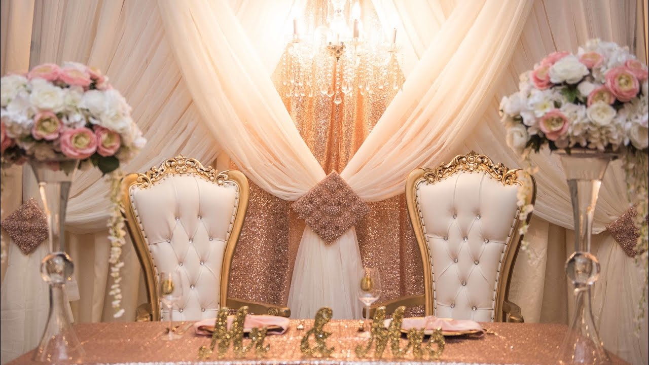 GLAM DIY WEDDING OR PARTY BACKDROP - YouTube