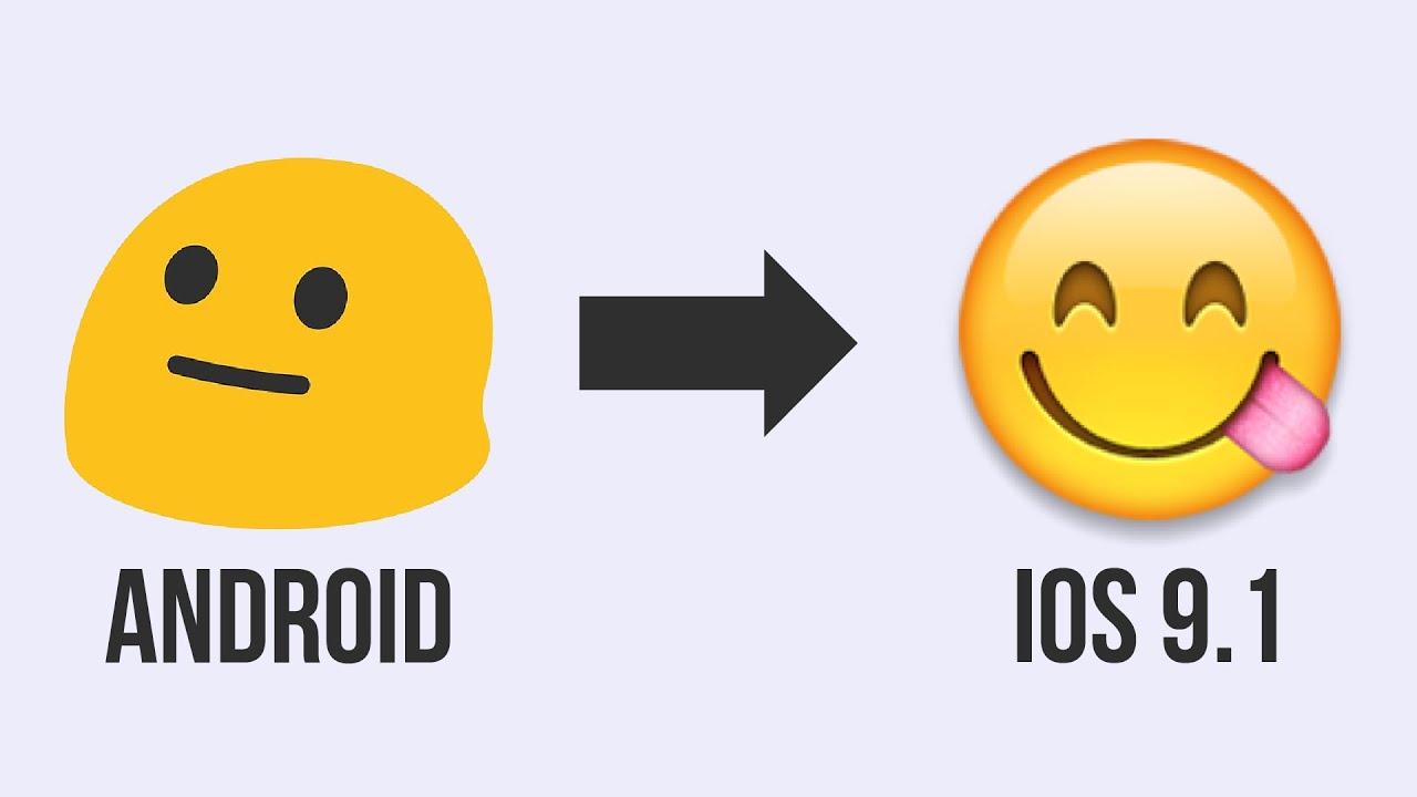 Change Android Emoji To Ios 9 1 No Skin No New Keyboard Youtube