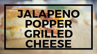Jalapeno Popper Grilled Cheese For National Grilled Cheese Month