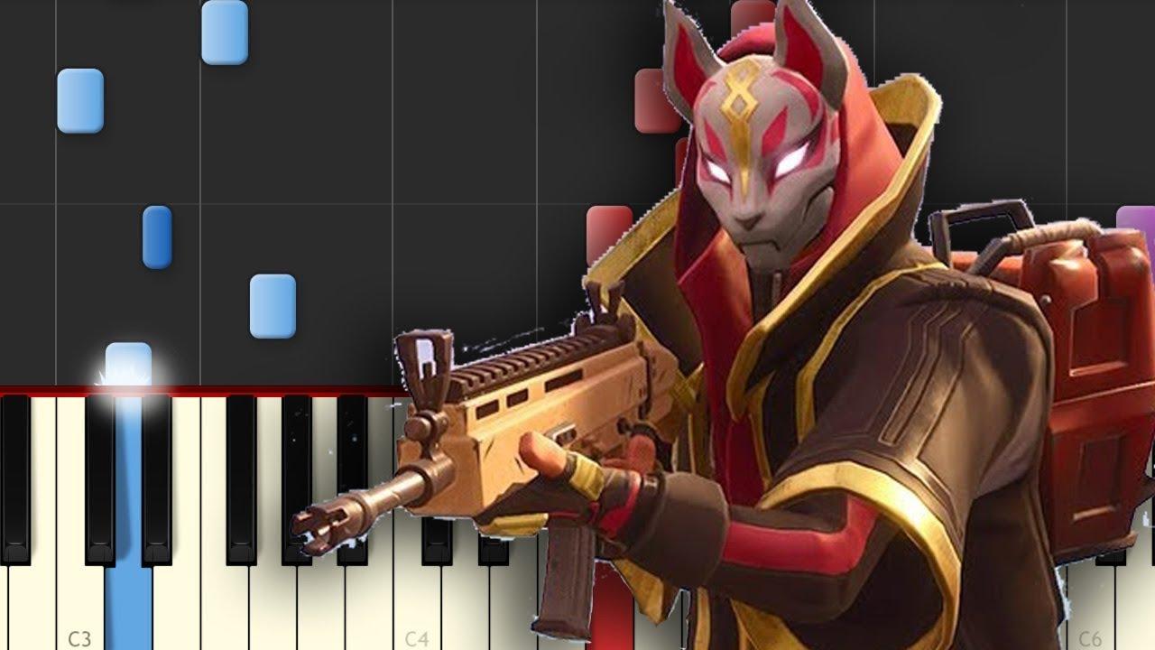 El Rap De Fortnite Bambiel Piano Tutorial Youtube