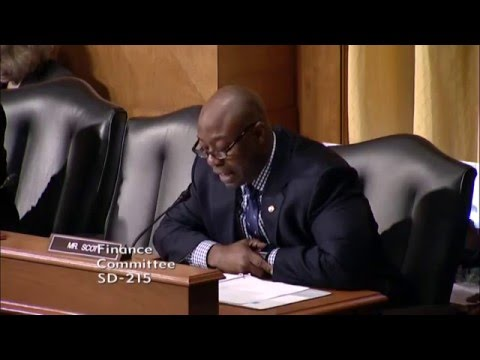 Senator Scott Questions Koskinen and Others on Cybersecurity in Finance Committee