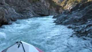 Jet boating Waiau River New Zealand.wmv