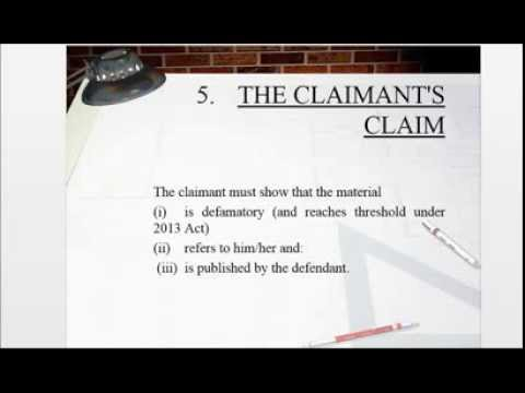 analysis of the defamation act 2013 On 1 january 2014, the defamation act 2013 (the act), which received royal assent on 25 april 2013, entered into force prior to the act, the law on defamation was made up of common law.