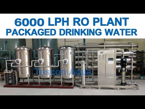 6000 LPH RO Reverse Osmosis Plant For Packaged Drinking Water Manufacturing