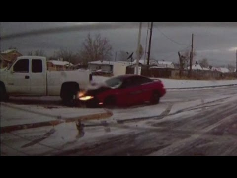 Icy roads cause car accidents all across Albuquerque