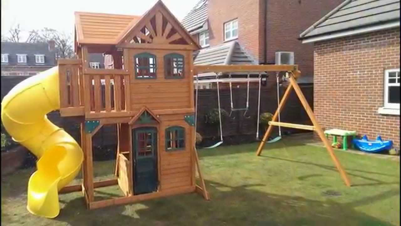 Playground Sets For Backyards Costco Part - 36: Ceder Summit Costco Solowave Climbing Frame Installer - YouTube
