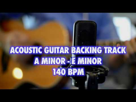 Am-Em Acoustic Guitar Backing Track 140 Bpm