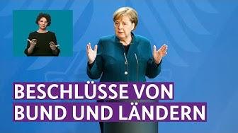 Bundeskanzlerin Merkel zu den neuesten Beschlüssen von Bund und Ländern