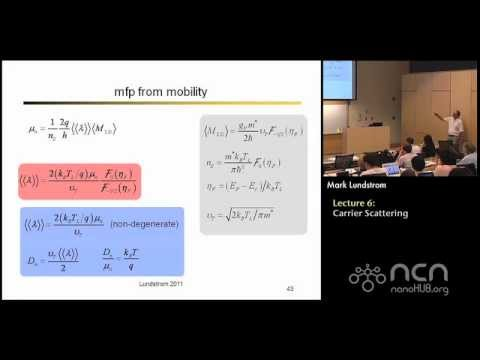 Near-equlibrium Transport Lecture 6: An Introduction to Scattering