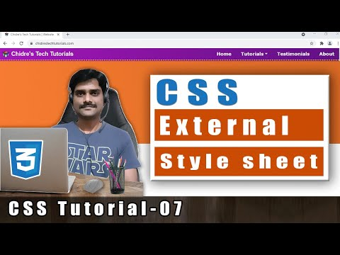 CSS Video Tutorial - 7 - External Style Sheet | Link Tag